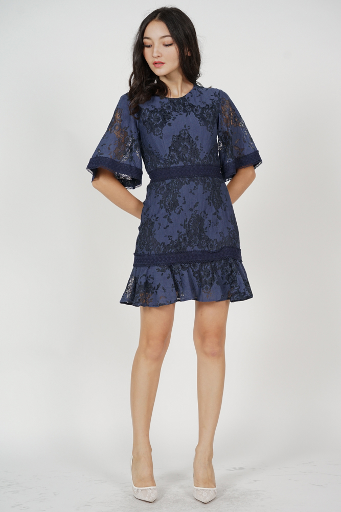 Kashla Lace Dress in Midnight