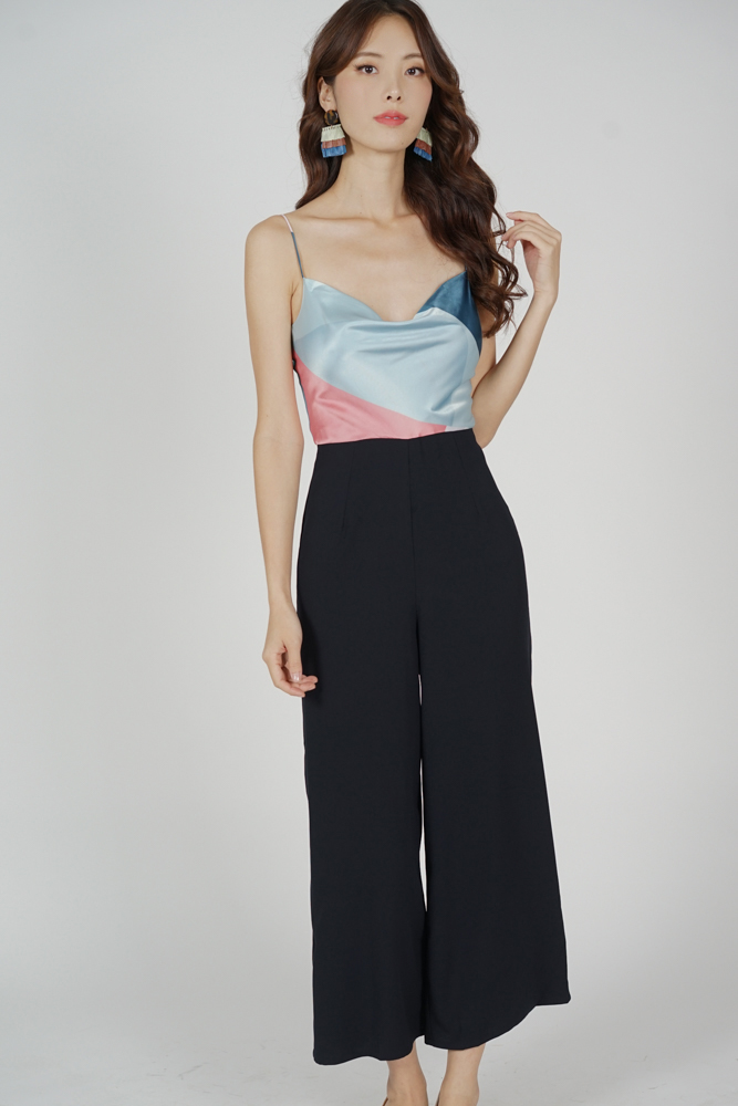 Sukey Cami Jumpsuit in Blue