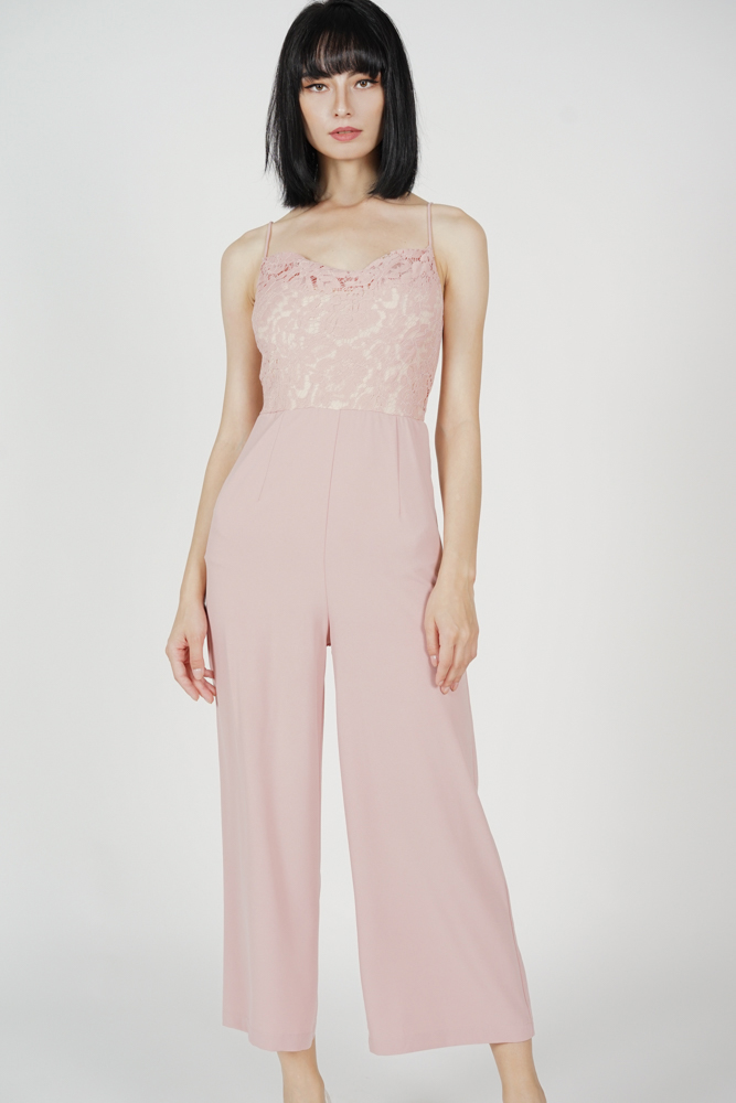 Meizer Cami Jumpsuit in Pink - Arriving Soon