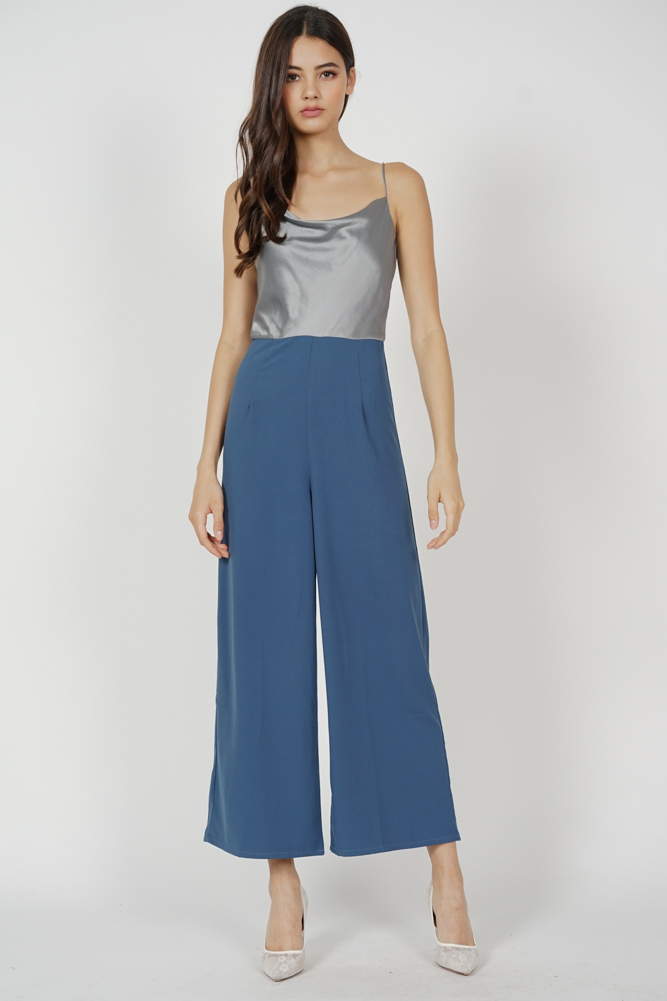 Sukey Cami Jumpsuit in Silver - Arriving Soon