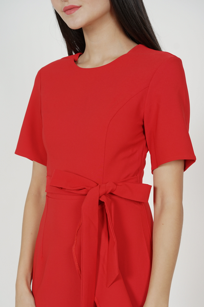 Aldos Ruffled Dress in Red