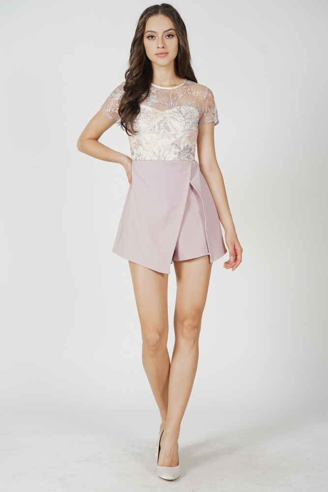 Zarin Mesh Romper in Dusty Pink - Arriving Soon