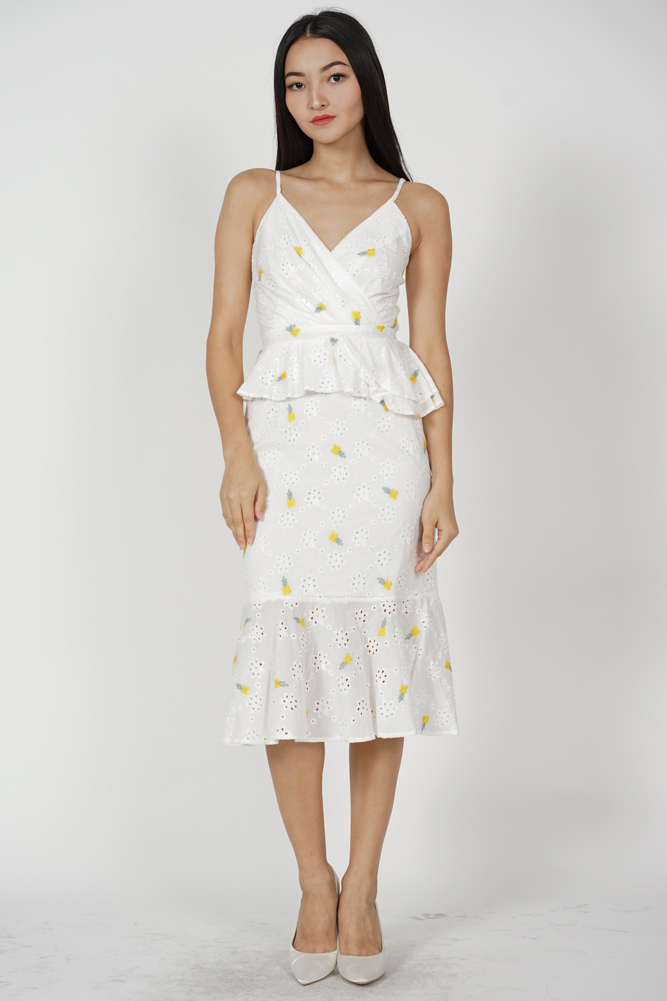 Marla Ruffled Dress in Yellow Floral