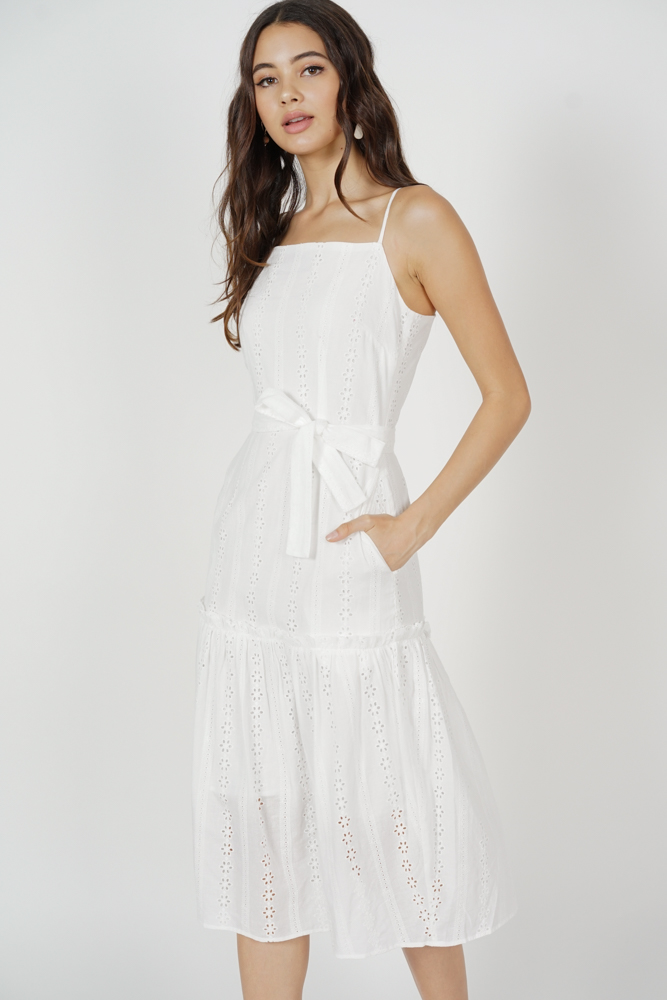 Kenny Eyelet Dress in White