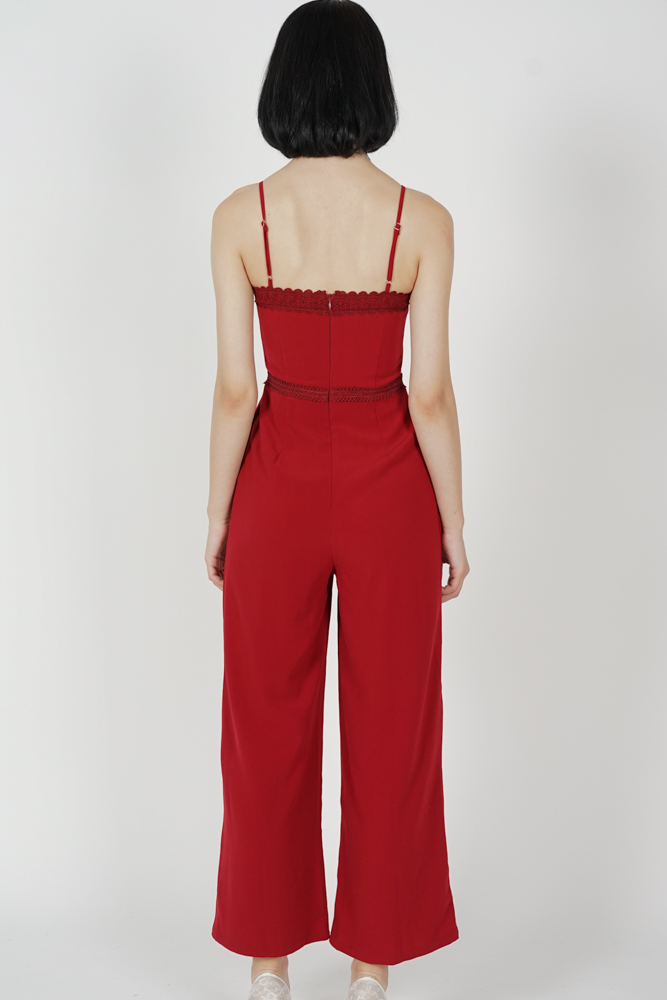 Hosa Cami Jumpsuit in Red