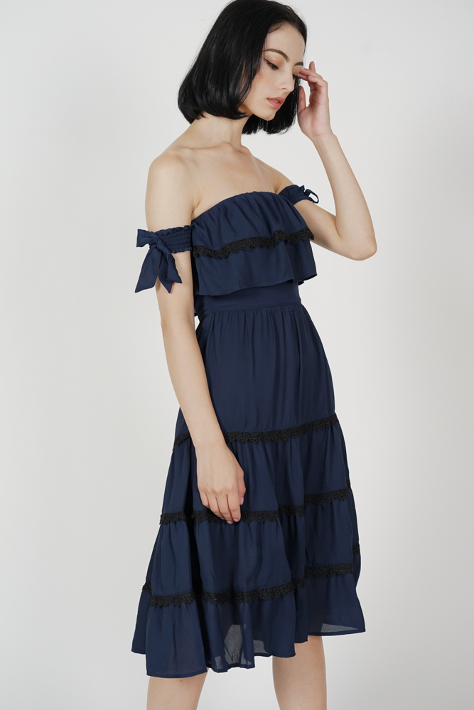Ellow Tiered Dress in Midnight