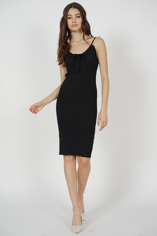 Johan Cami Dress in Black