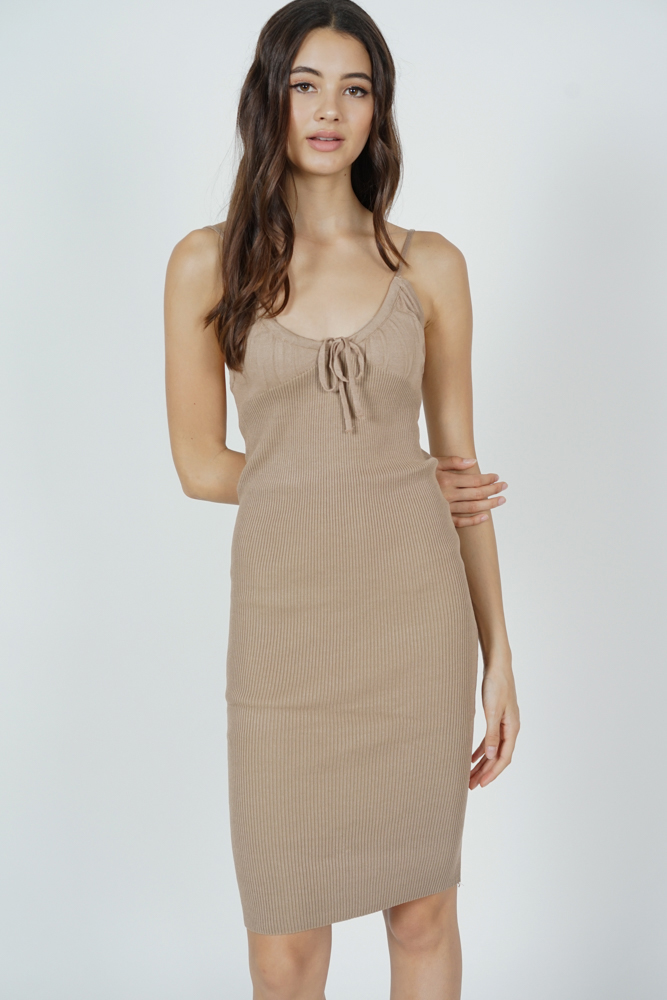 Johan Cami Dress in Brown