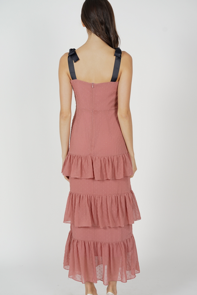 Barry Tiered Dress in Pink
