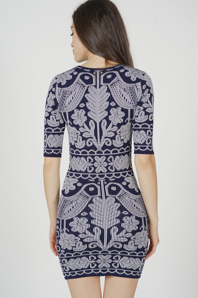 Camry Knit Dress in Midnight