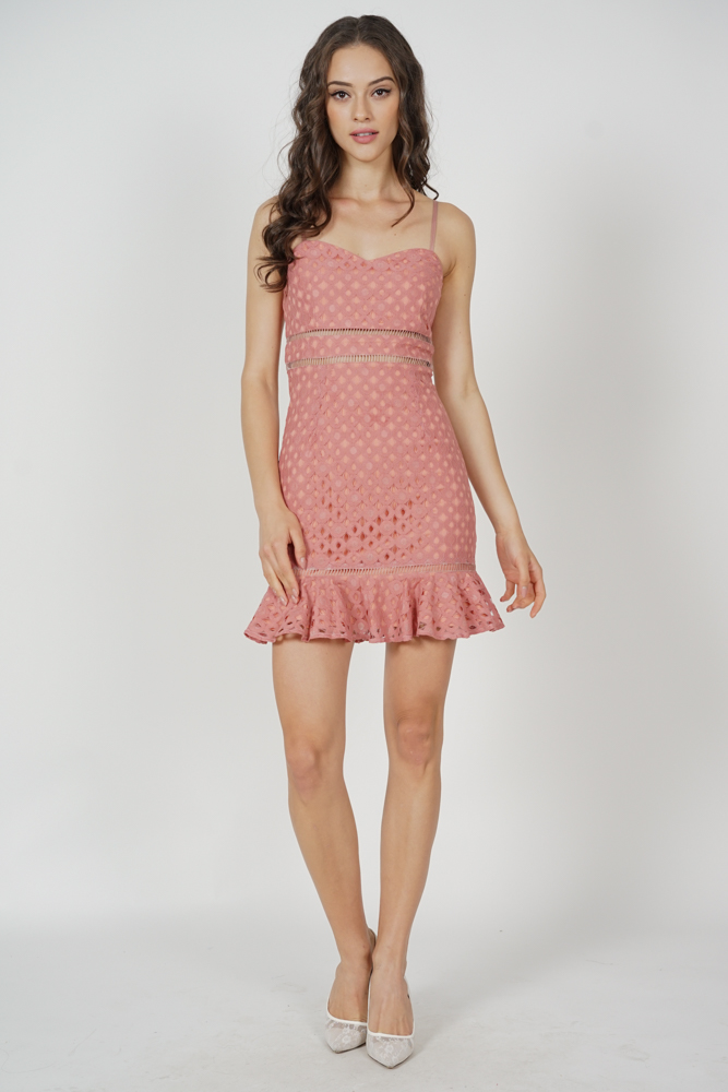 Ellya Ruffled-Hem Dress in Pink - Arriving Soon