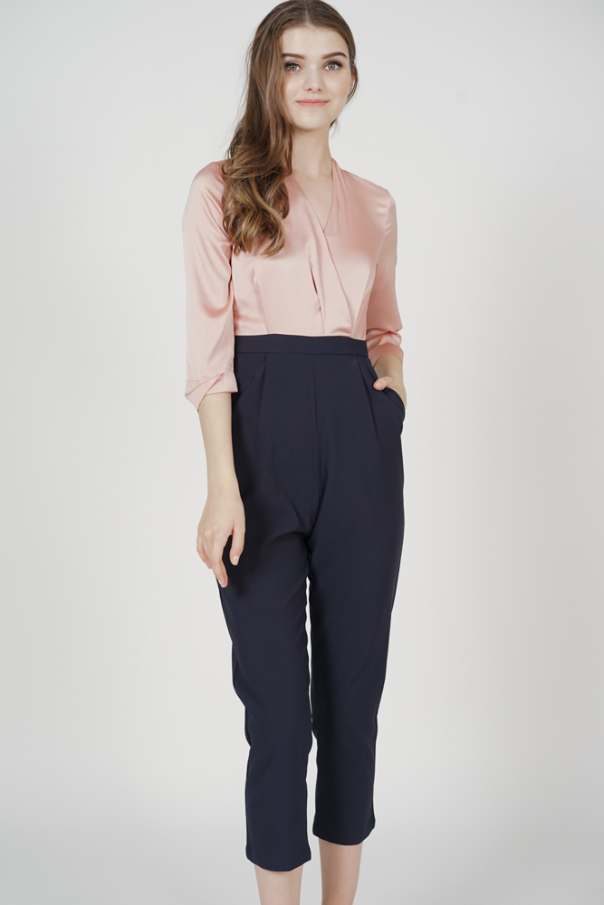 Rickie Contrast Jumpsuit in Pink - Arriving Soon