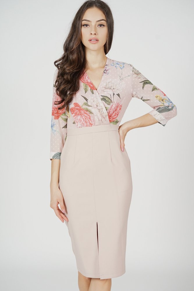 Weston Midi Dress in Pink Floral - Arriving Soon