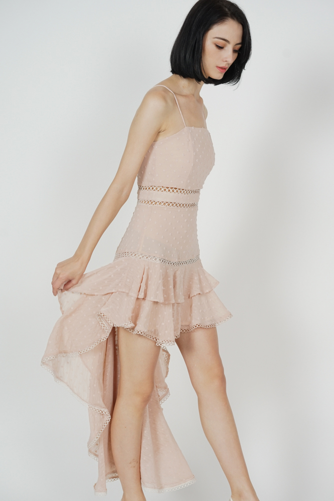 Shasta Ruffled Dress in Cream