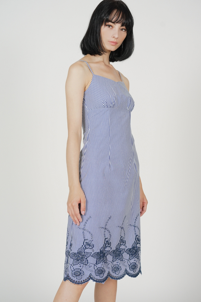 Ralphie Cami Dress in Blue Stripes - Arriving Soon