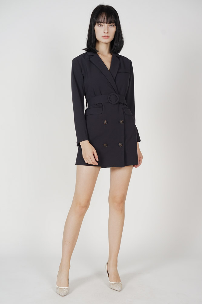 Koyi Blazer Dress in Midnight - Arriving Soon
