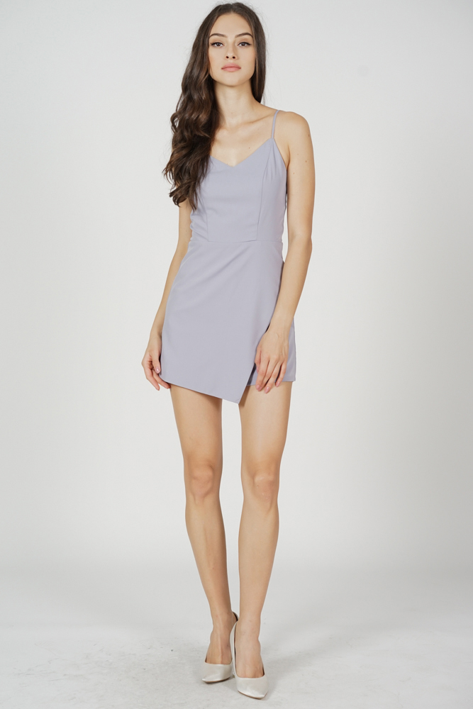 Asben Cami Skorts Romper in Lilac - Arriving Soon