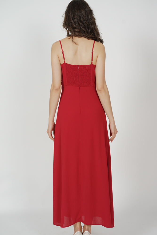 Ushna Maxi Dress in Red