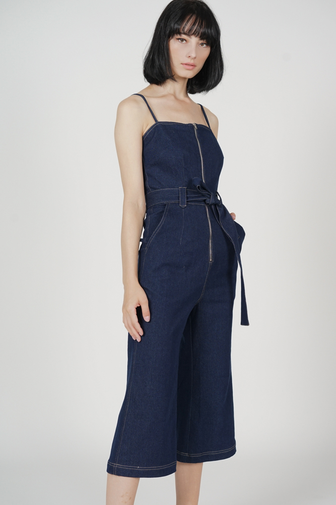 Klausie Zipper Jumpsuit in Blue