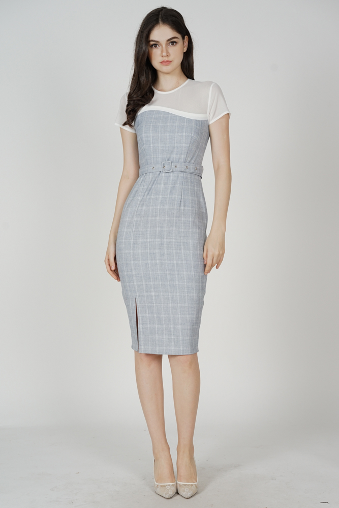 Evonna Midi Dress in Grey - Arriving Soon