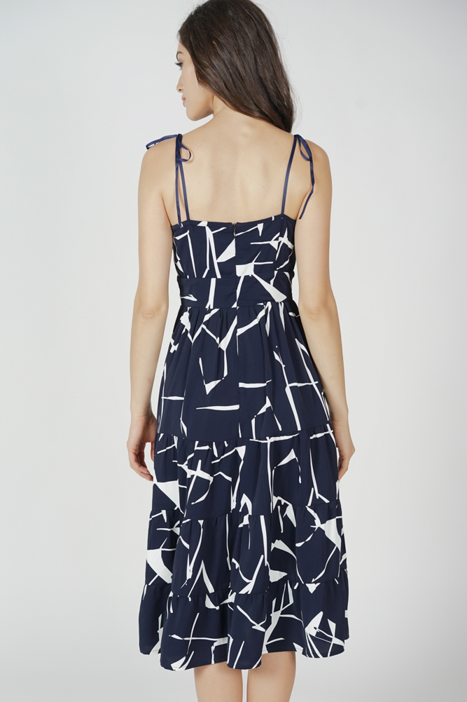 Armo Gathered Dress in Midnight - Arriving Soon
