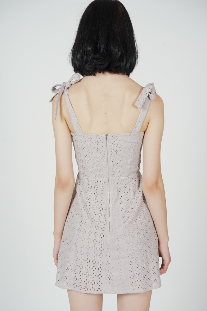 Josephine Eyelet Dress in Pink - Arriving Soon