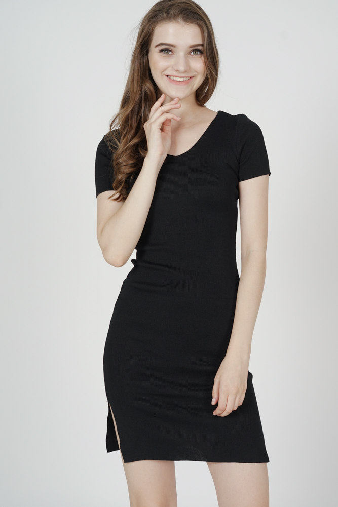 Alisa Knit Dress in Black