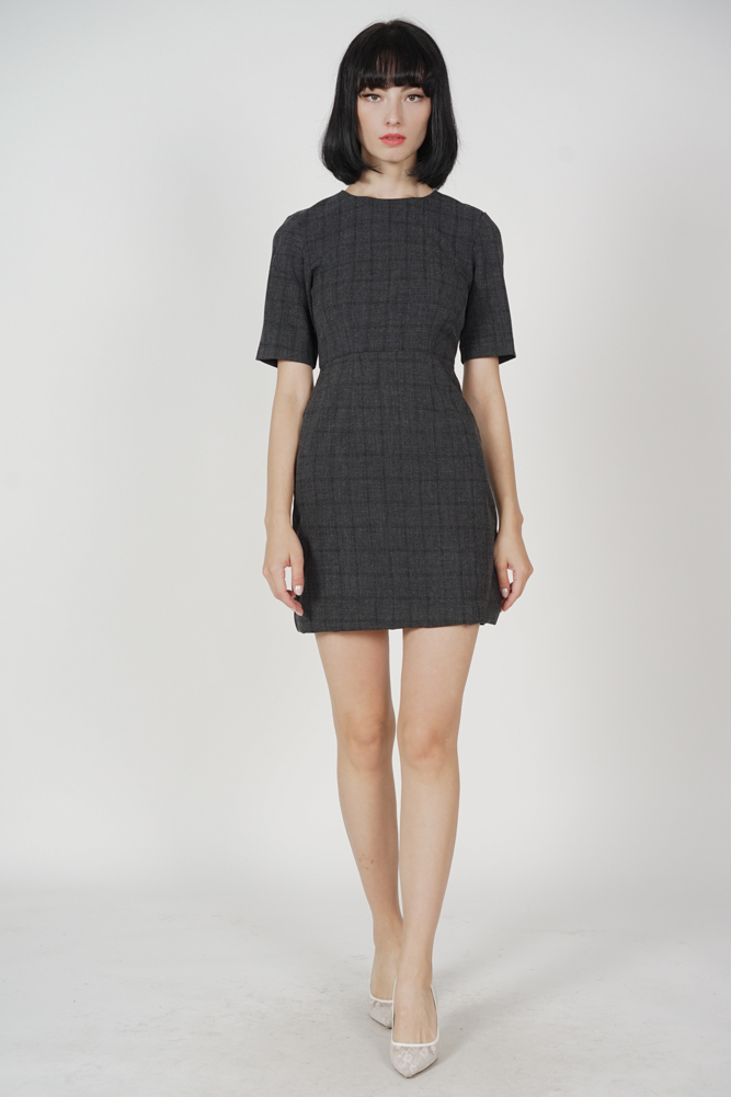 Lettie Fitted Shift Dress in Black - Arriving Soon