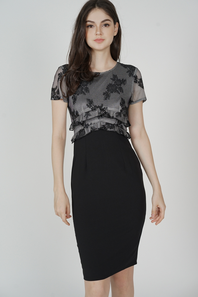 Idalia Lace Dress in Black