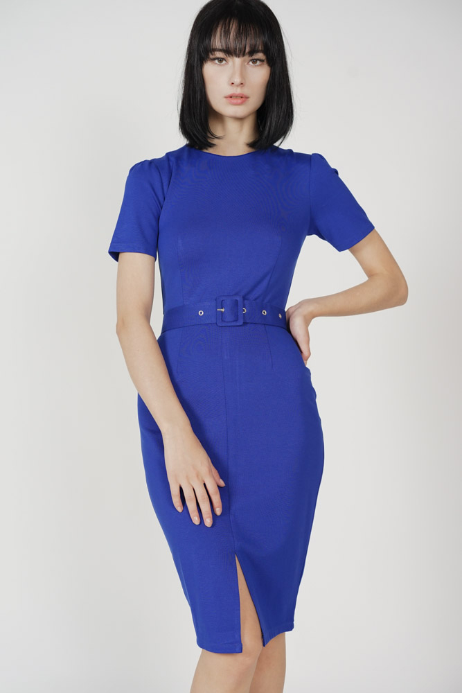 Murua Slit Dress in Blue - Arriving Soon