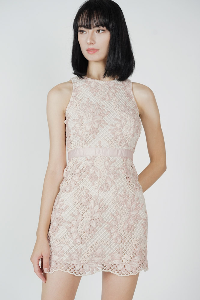 Odita Lace Dress in Pink