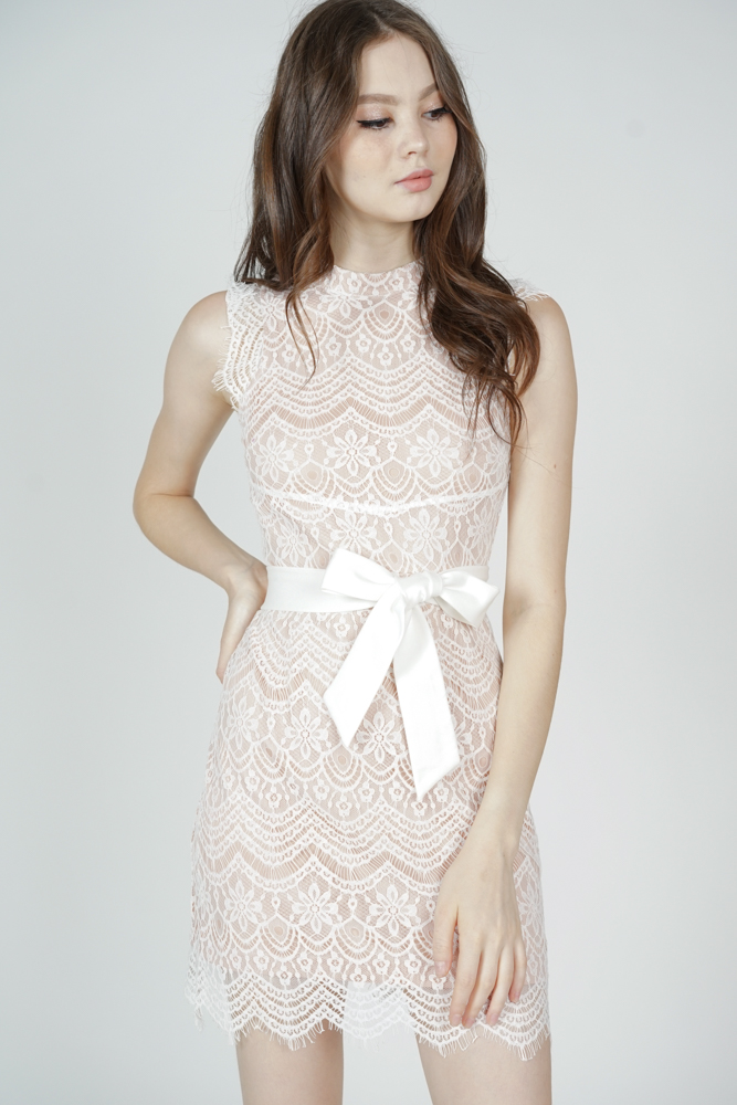 Daere Lace Dress in White - Arriving Soon