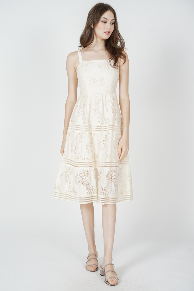 Balta Lace Dress in Cream - Arriving Soon