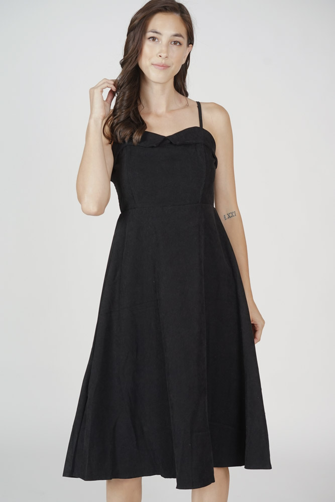 Jael Cami Dress in Black - Online Exclusive