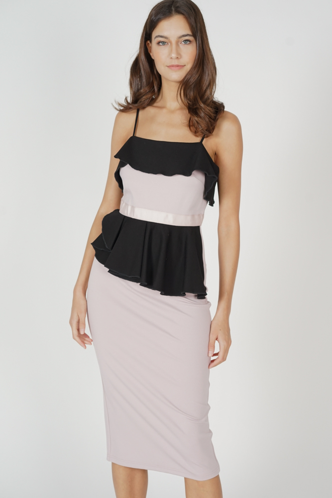Zabra Ruffled Dress in Pink - Arriving Soon