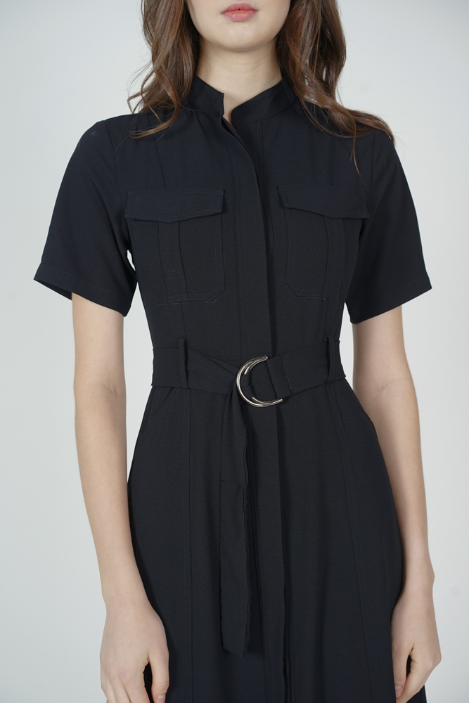 Gryla Utility Dress in Midnight - Arriving Soon
