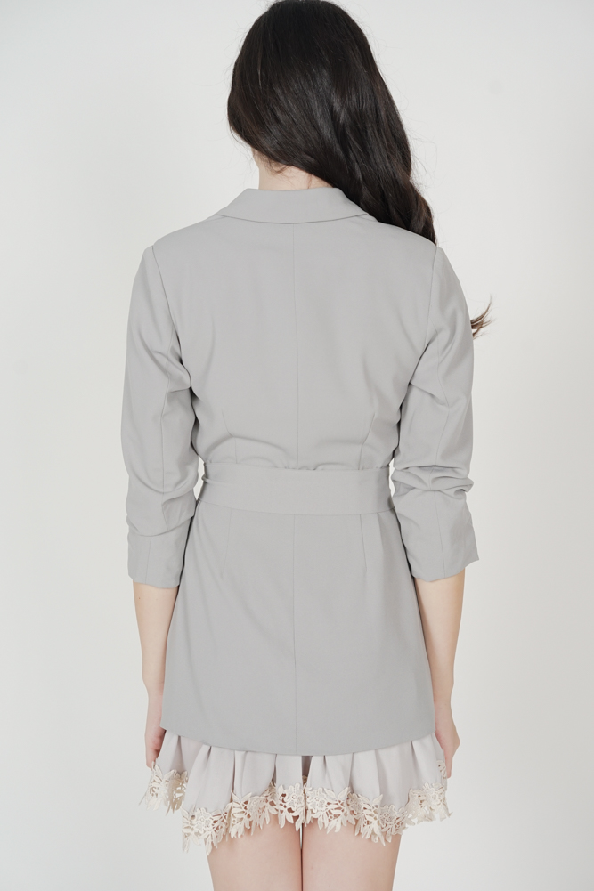 Jundio Blazer Dress in Ash Blue - Arriving Soon