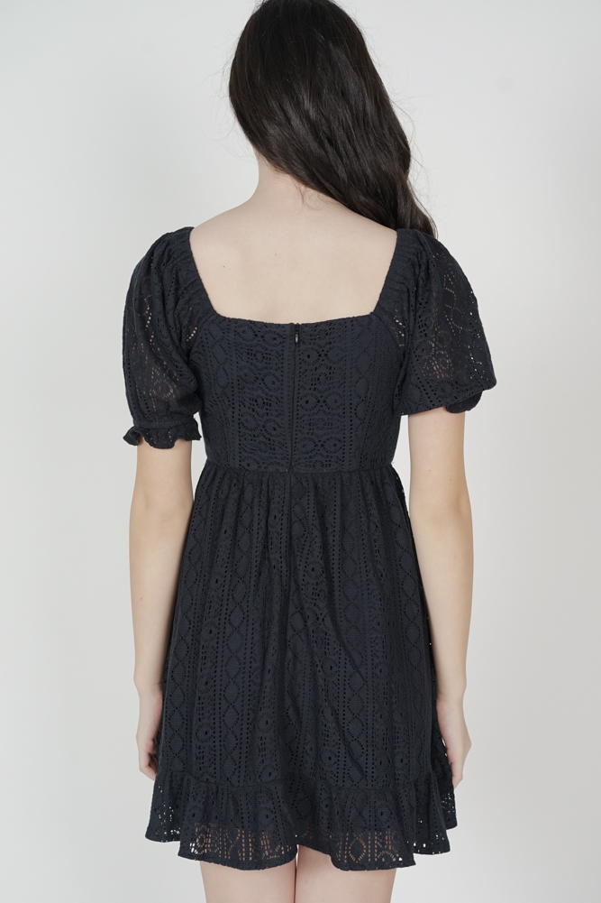Kileri Gathered Dress in Midnight - Arriving Soon