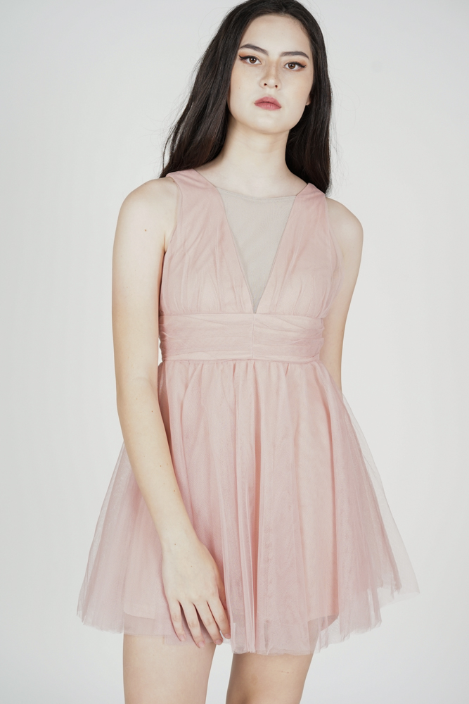 Yurien Tulle Dress in Pink - Arriving Soon