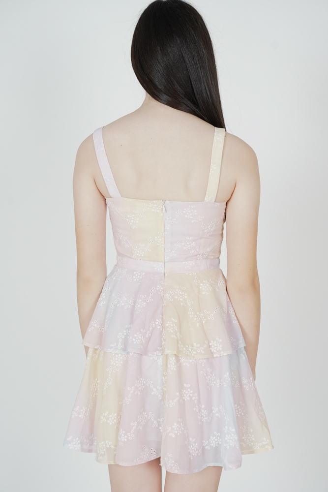 Izabella Eyelet Dress in Multi Pastel - Arriving Soon
