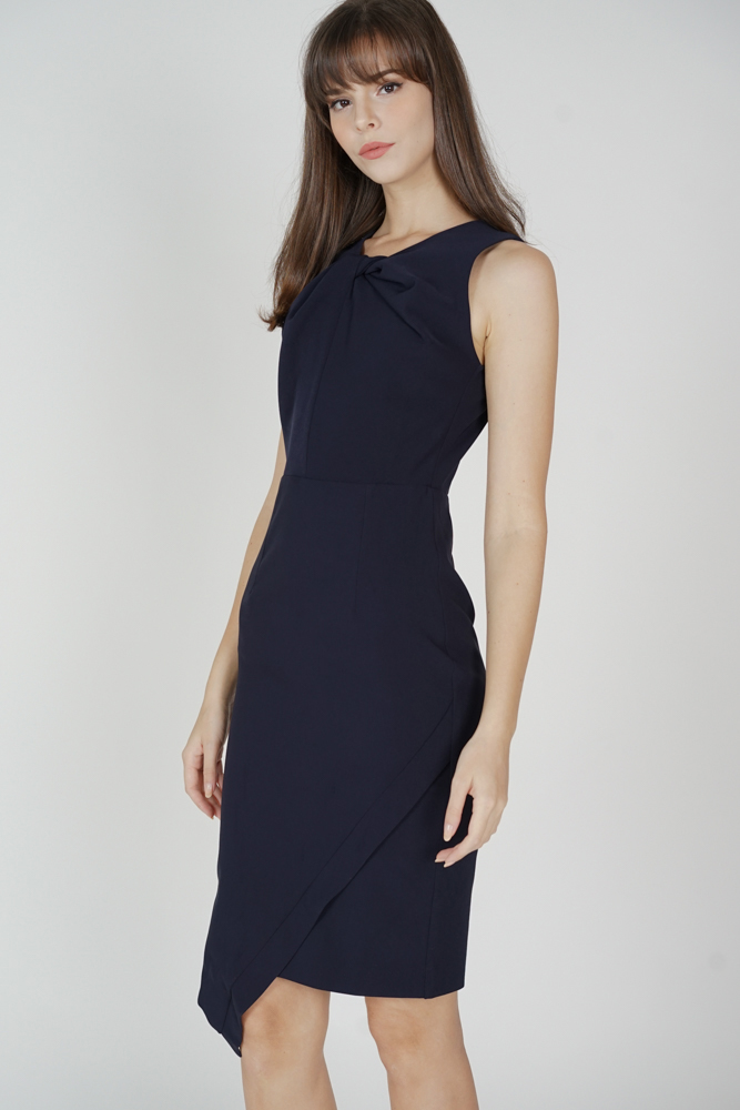 Dailey Midi Dress in Midnight - Arriving Soon