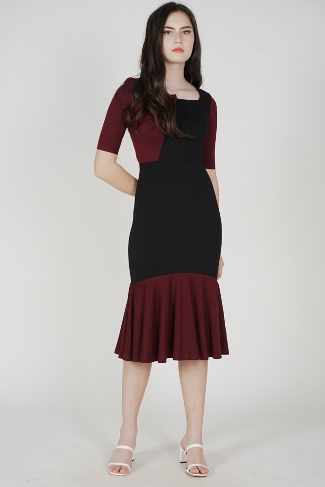 Emmie Contrast Dress in Black - Arriving Soon