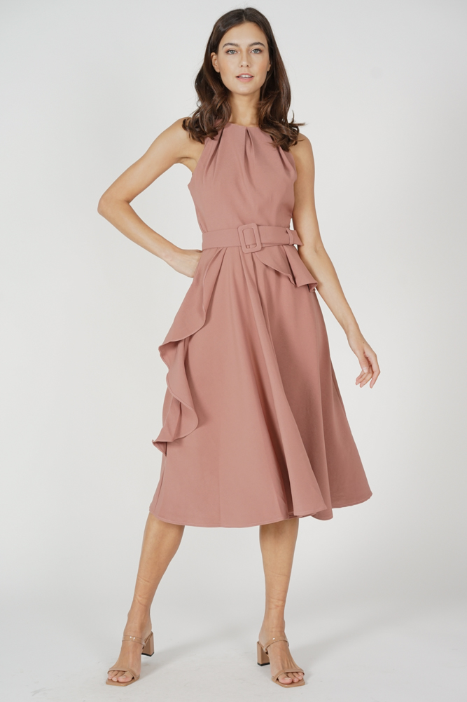 Sindie Ruffled Dress in Pink - Arriving Soon