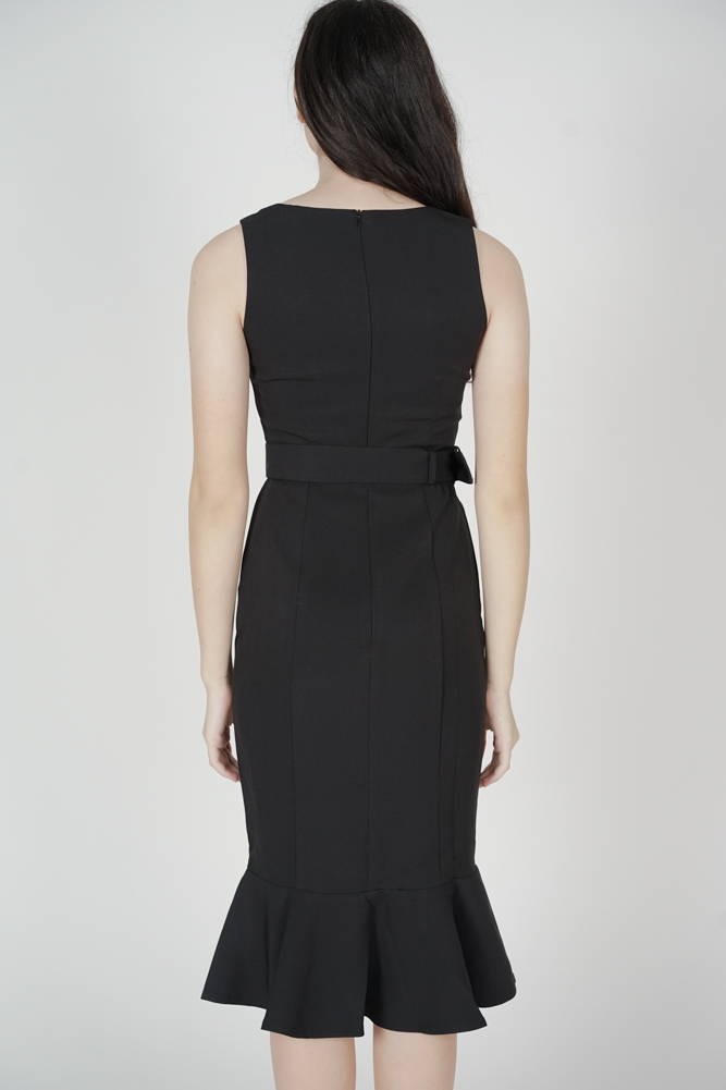Felice Square-Neck Dress in Black - Arriving Soon