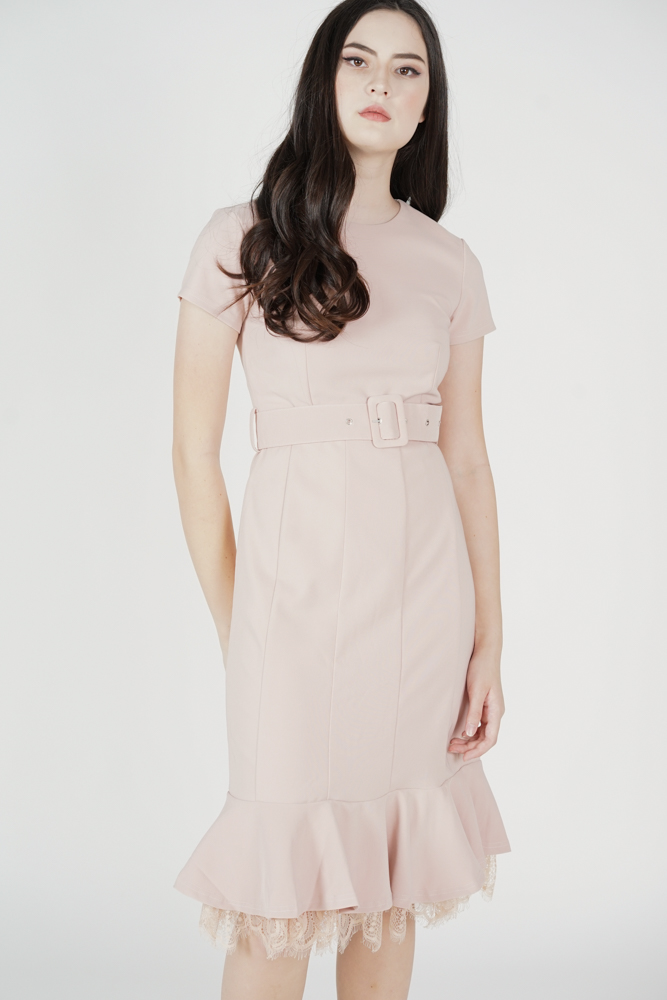 Mayti Ruffled-Hem Dress in Pink - Arriving Soon