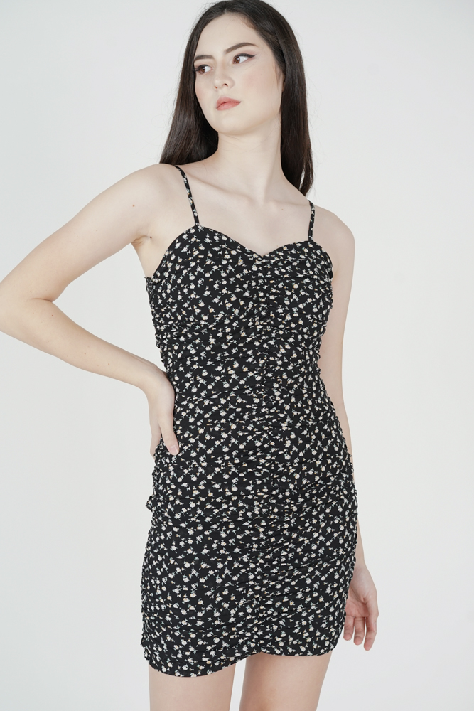 Hanya Cami Dress in Black Floral - Arriving Soon