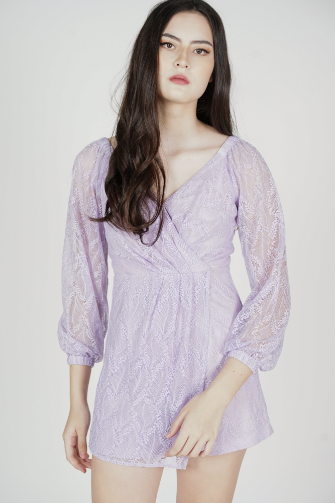 Wilfa Lace Romper in Lilac - Arriving Soon