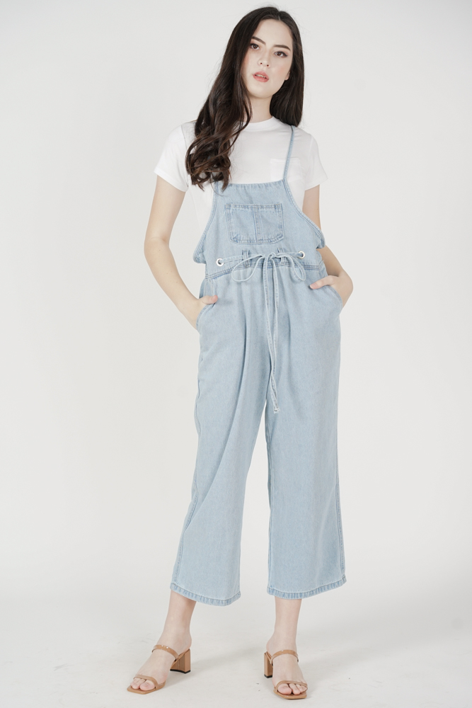 Wooji Denim Overalls in Light Blue - Online Exclusive
