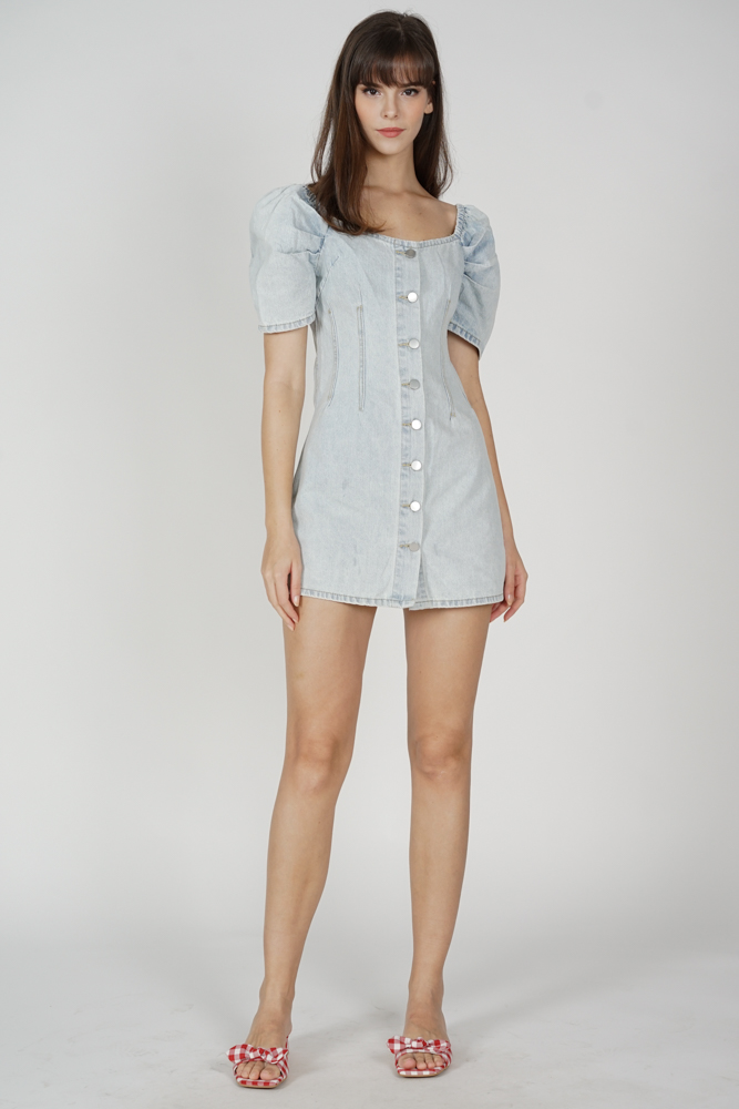 Arun Puffy Dress in Light Blue - Online Exclusive