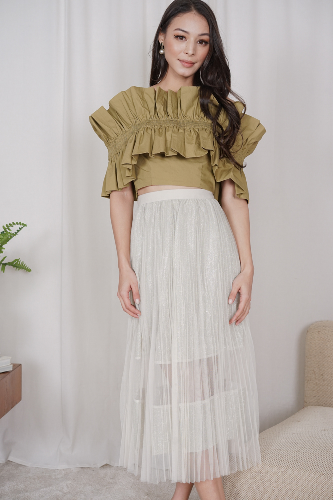 Susana Tulle Skirt in Cream - Online Exclusive